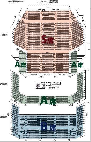 横浜バレエフェスティバル2016座席表